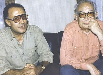 Abbas Kiarostami con Akira Kurosawa