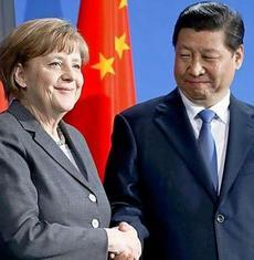 Angela Merkel con Xi Jinping