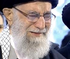 Khamenei in lacrime