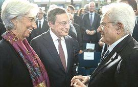 Lagarde, Draghi e Mattarella