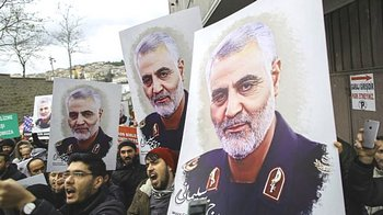 Lutto per l'assassinio di Soleimani