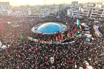 Milioni di persone a Teheran ai funerali di Soleimani