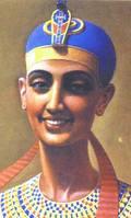 Una riproduzione della regina egizia Scota