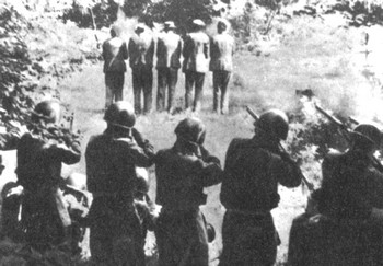 Italiani fucilano civili slavi nel villaggio di Dane in Slovenia il 31 luglio 1942
