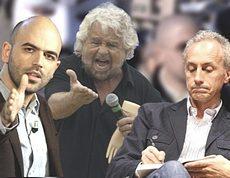 Saviano, Grillo e Travaglio