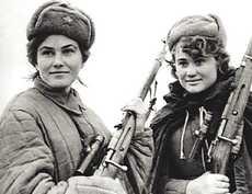 Soldatesse dell'Armata Rossa