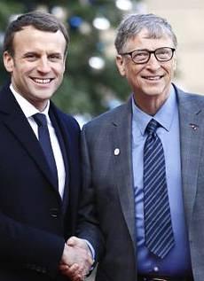 Bill Gates con Macron