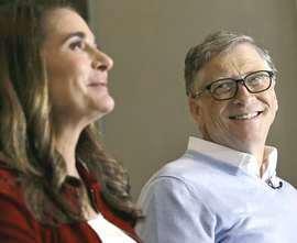 Bill Gates con la moglie, Melinda