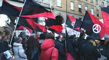 Manifestanti anarchici della Fai