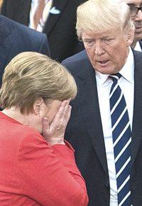 Merkel e Trump