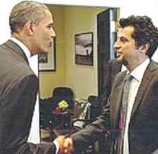 Enrico Moretti con Barack Obama