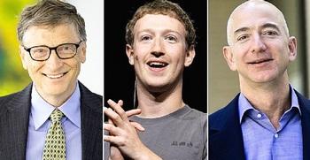 Gates, Zuckerberg e Bezos
