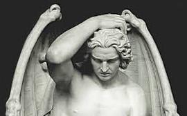 Lucifero nell'arte, rappresentato da Guillaume Geefs