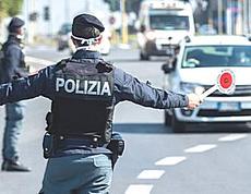 Polizia, posto di blocco