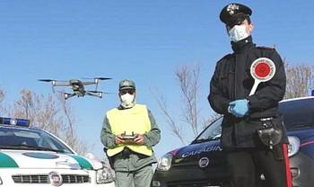 Posto di blocco con drone