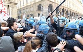 NoTav e polizia a Torino