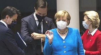 Conte, Rutte, Merkel e von der Leyen