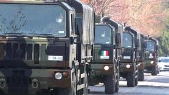 Convogli militari carichi di bare
