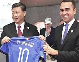 Di Maio e Xi Jinping
