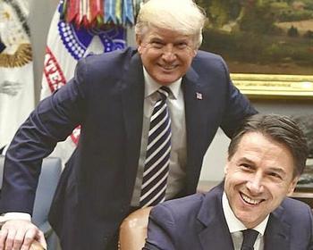Donald Trump con Giuseppe Conte