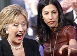 Hillary Clinton con Huma Abedin