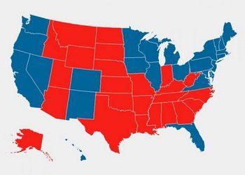 La mappa del voto, contestato da Trump