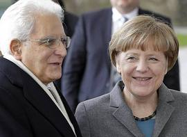 Mattarella e Merkel