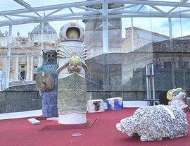 Il presepe 2020 in piazza San Pietro