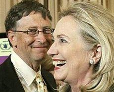 Bill Gates con Hillary Clinton