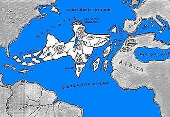 Una ricostruzione dell'Atlantide