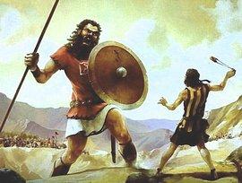 Davide e Golia, il gigante biblico