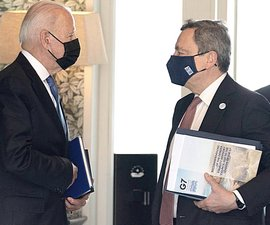 Draghi con Biden
