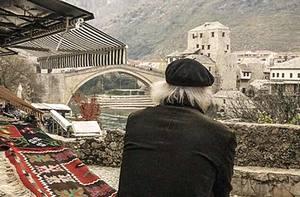 Fredo Valla a Mostar, una delle location del film